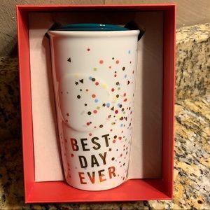 Starbucks 2015 Ceramic Best Day Ever travel mug